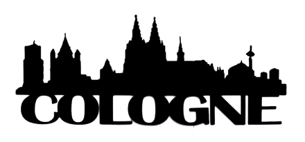 Cologne Scrapbooking Laser Cut Title with Skyline