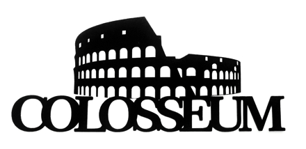 Colosseum Scrapbooking Laser Cut Title with Colosseum
