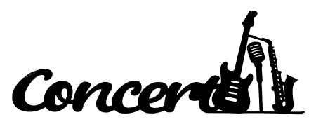 Concert Scrapbooking Laser Cut Title with Guitar