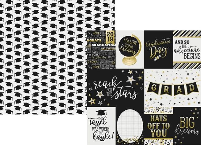 Congratulations Elements Double Sided 12x12 Scrapbooking Paper