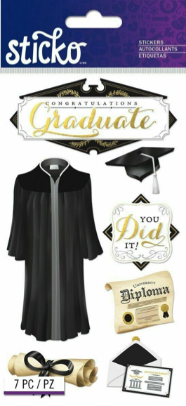 Congratulations Graduate Scrapbooking Stickers