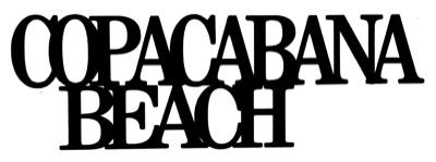 Copacabana Beach Scrapbooking Laser Cut Title