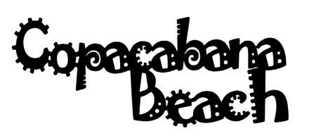 Copacabana Beach Scrapbooking Laser Cut Title