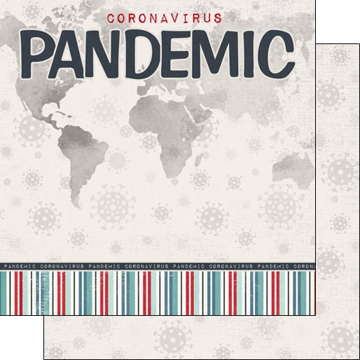 Pandemic 12x12 Double Sided Scrapbooking Paper
