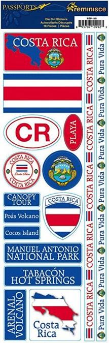 Costa Rica Cardstock Scrapbooking Stickers and Borders