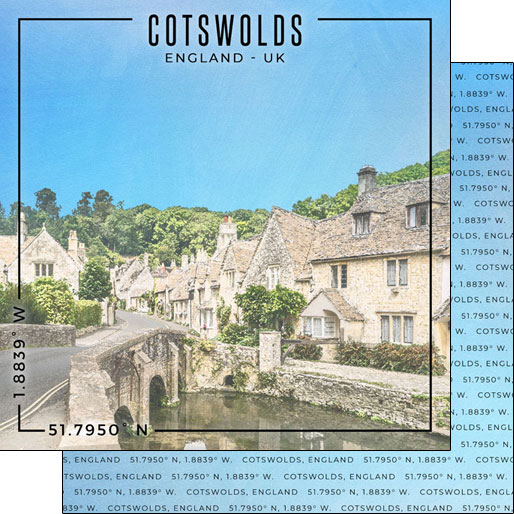 Cotswolds 12x12 Double Sided Scrapbooking Paper
