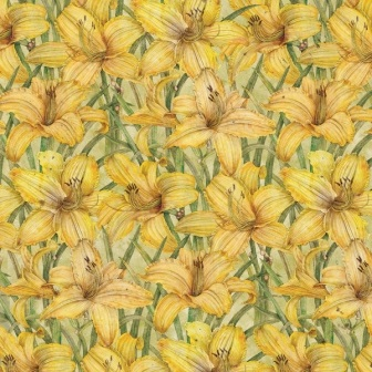 Cottage Garden Day Lily 12x12 Scrapbooking Paper