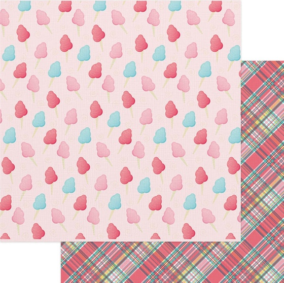 Cotton Candy Double Sided 12x12 Scrapbooking Paper