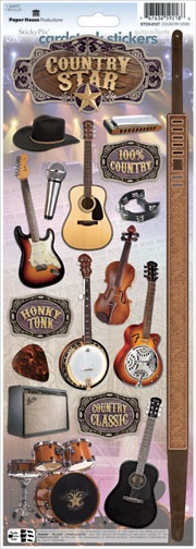 Country Star Cardstock Scrapbooking Stickers