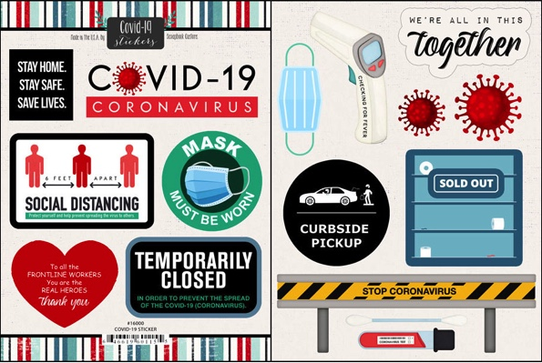 Covid-19 Scrapbooking Stickers 2
