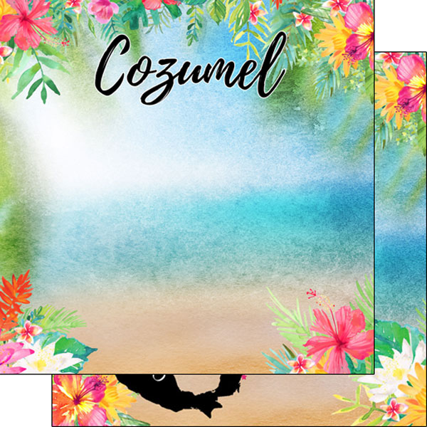 Cozumel 12x12 Double Sided Scrapbooking Paper