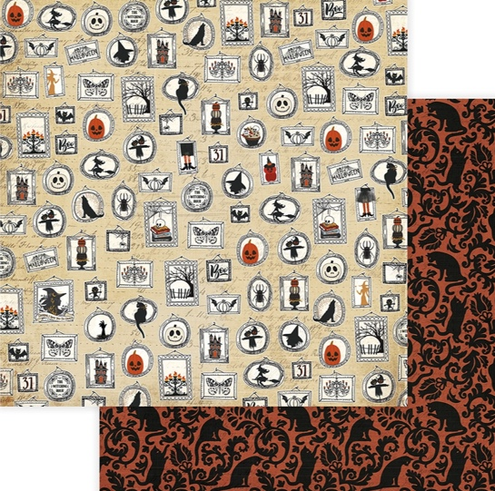 Creepy Double Sided 12x12 Scrapbooking Paper