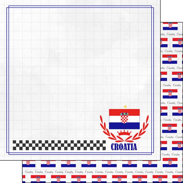 Croatia Adventure 12x12 Double Sided Scrapbooking Paper