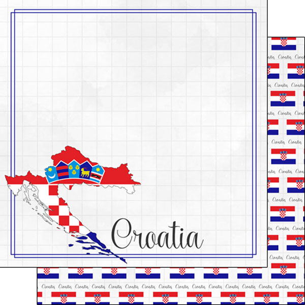 Croatia 12x12 Double Sided Scrapbooking Paper