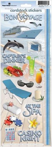 Cruise Cardstock Scrapbooking Stickers