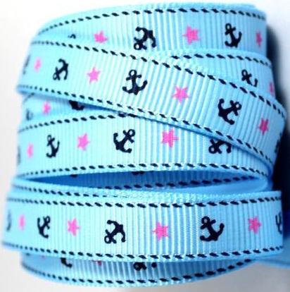Cruise Light Blue Scrapbooking Ribbon