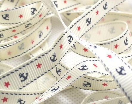 Cruise Self Adhesive Scrapbooking Ribbon - Cream