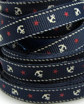 Cruise Self Adhesive Scrapbooking Ribbon - Navy