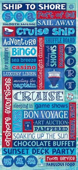 Cruise Glitter Words Large Glittered Scrapbooking Stickers