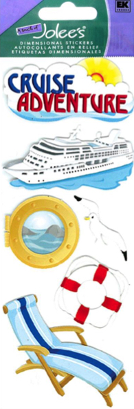 Cruise Adventure 3D Scrapbooking Stickers