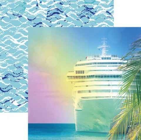 Cruise 12x12 Double Sided Scrapbooking Paper