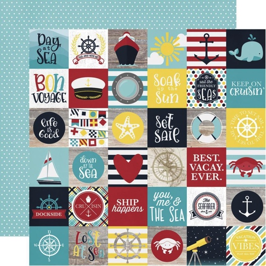 Cruising Elements 12x12 Double Sided Scrapbooking Paper
