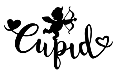 Cupid Scrapbooking Laser Cut Title with Cupid