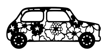 Cute Car Intricate Scrapbooking Laser Cut