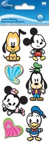 Cuties Mickey Disney 3D Scrapbooking Stickers
