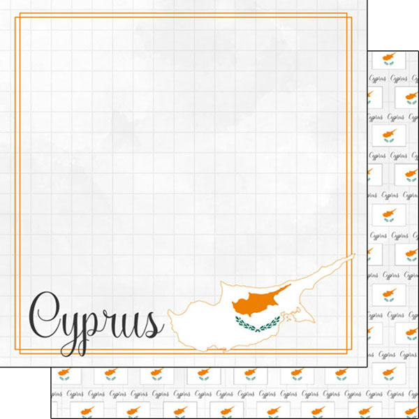 Cyprus 12x12 Double Sided Scrapbooking Paper