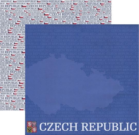 Czech Republic 12x12 Double Sided Scrapbooking Paper