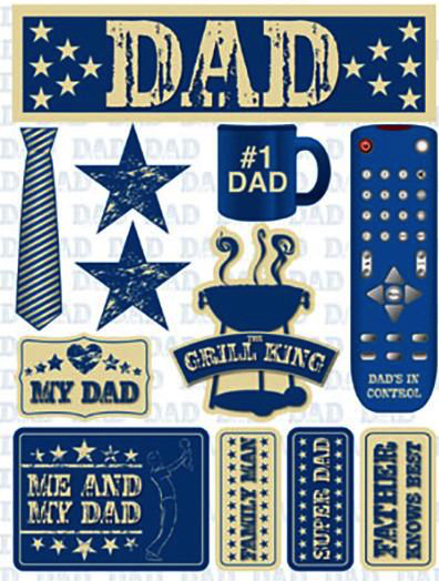 Dad 3D Scrapbooking Stickers