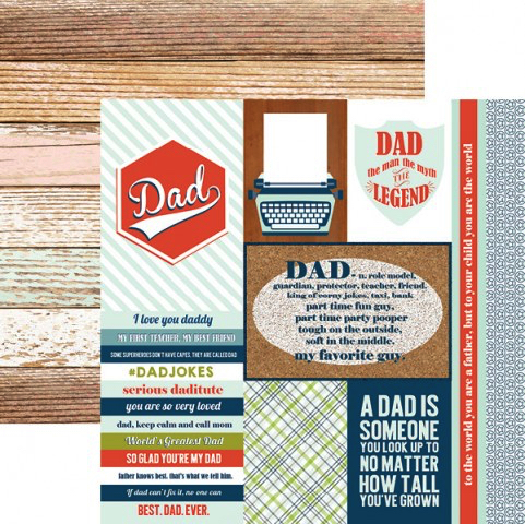 Dad Tags 12x12 Double Sided Scrapbooking Paper