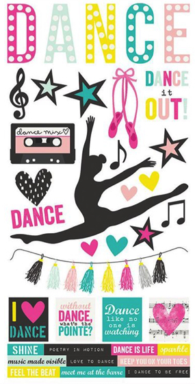 Dance Cardstock Scrapbooking Stickers