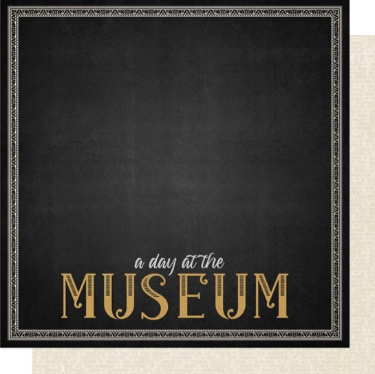 A Day at the Museum 12x12 Double Sided Scrapbooking Paper