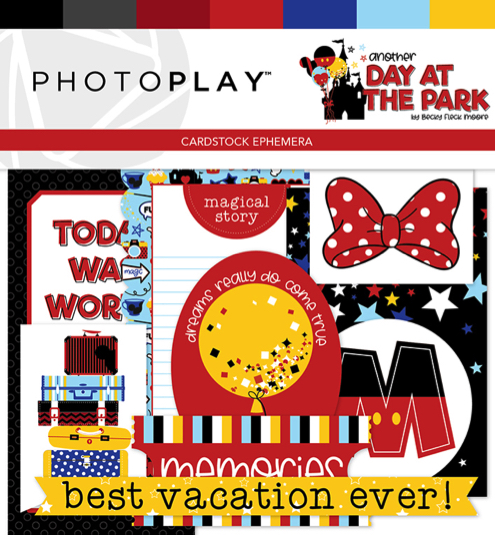 Disney Day at the Park Die Cut Scrapbooking Shapes