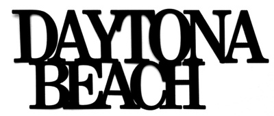 Daytona Beach Scrapbooking Laser Cut Title