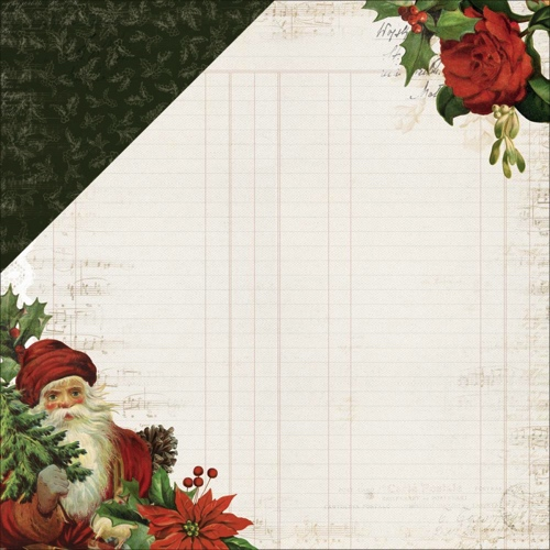 Dear Santa 12x12 Double Sided Scrapbooking Paper