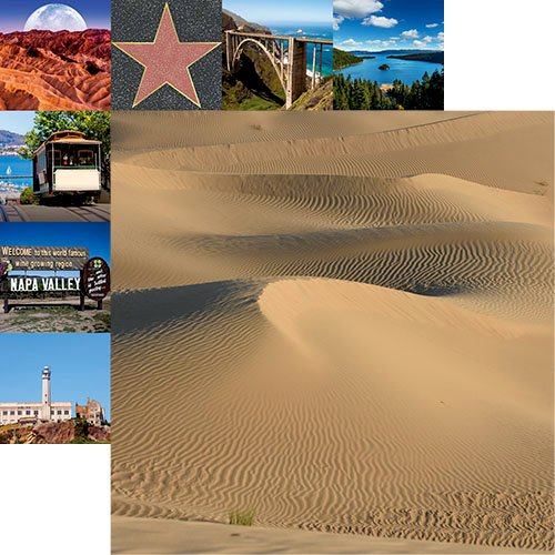 Death Valley Double Sided 12x12 Scrapbooking Paper