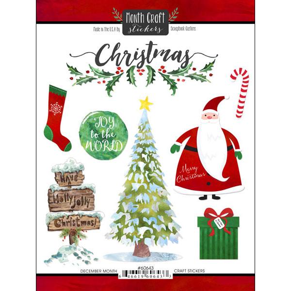 December Memories Scrapbooking Stickers