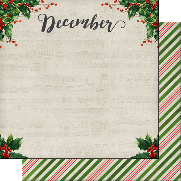 December 12x12 Double Sided Scrapbooking Paper