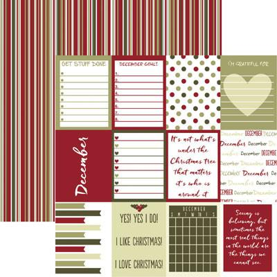 Plan it December 12x12 Double Sided Scrapbooking Paper