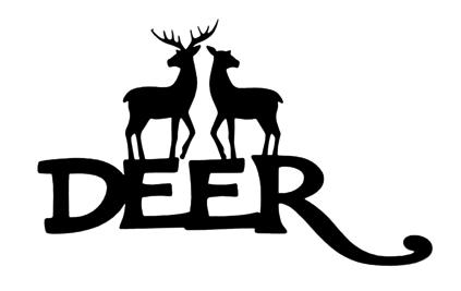 Deer Scrapbooking Laser Cut Title with Two Deer