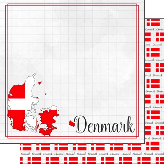 Denmark 12x12 Double Sided Scrapbooking Paper