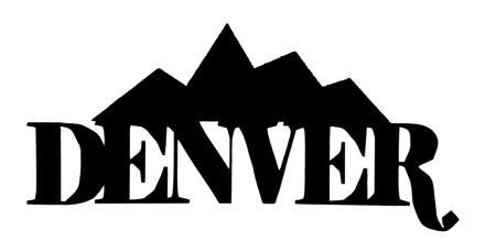 Denver Scrapbooking Laser Cut Title with Mountains