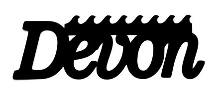 Devon Scrapbooking Laser Cut Title with Waves