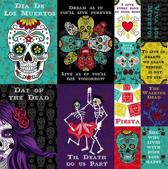 Dia de los Muertos 12x12 Cardstock Scrapbooking Stickers