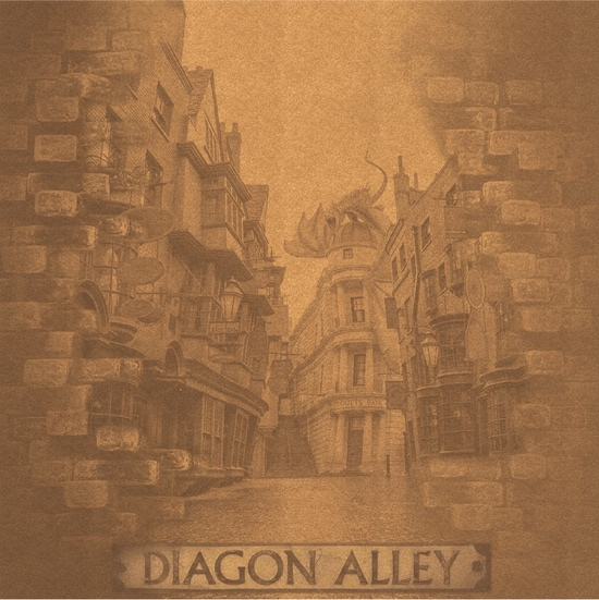 Harry Potter Entering Diagon Alley 12x12 Scrapbooking Paper