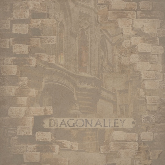 Harry Potter Diagon Alley Sign 12x12 Scrapbooking Paper