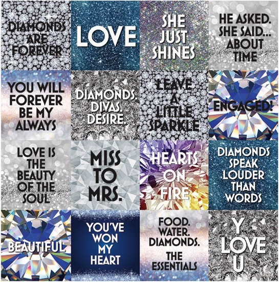 Diamonds 12x12 Cardstock Scrapbooking Stickers